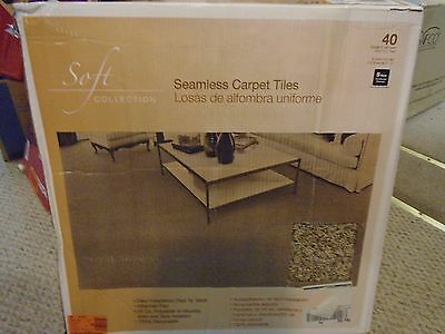 "Seamless Carpet Tiles Tranquility Misty Mountain 24"" X 24"" 40 Sq Ft **new**"
