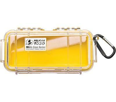 Pelican 1030 Dry Case /Snorkelers/Kayakers - Yellow w/ clear lid