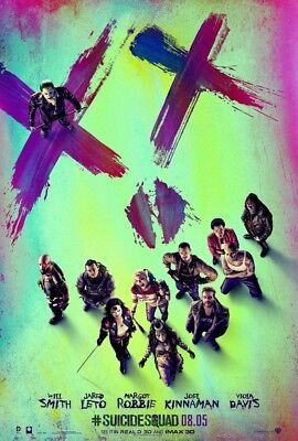 SUICIDE SQUAD MOVIE POSTER 2 Sided ORIGINAL Version B 27x40 MARGOT ROBBIE