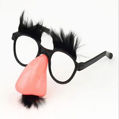 Fuzzy Puss Groucho Marx Beagle Glasses Nose Mustache Hair Disguise Novelty