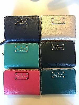 NWT Kate Spade Wellesley Cara Wallet Zip Around Small Stacy Coin Purse WLRU1745