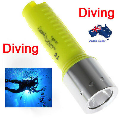1600lm Cree Xm L T6 Flashlight Diving Torch Lamp Led Waterproof 60m scuba