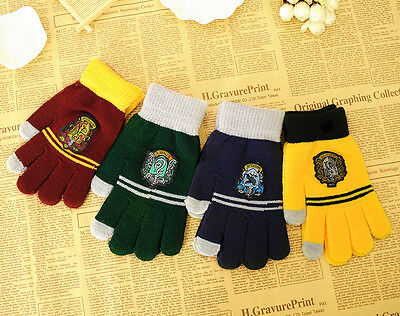 New Harry Potter Gryffindor Ravenclaw Hufflepuff Slytherin gloves Cosplay
