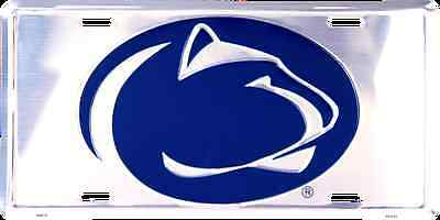 Penn State Nittany Lions Car Truck Tag Chrome License Plate Sign University