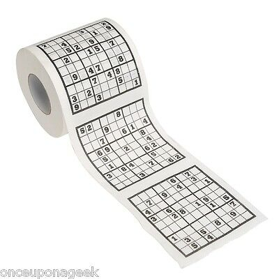 Sudoku Toilet Roll - Sudoku Bill Toilet Paper Novelty Toilet Roll