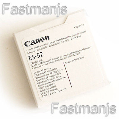 New Genuine Canon ES-52 Lens Hood For Canon EF 40mm F2.8 STM