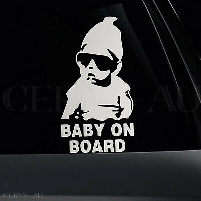 Baby On Board Stickers Reflective Car Vinyl Decal Sign Sticker Signs Kids Child
