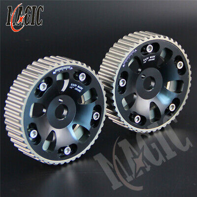 Aluminum Cam Gear pulley Pair for 91-95 Toyota MR2/MR-R/CELICA 3S-GTE SW20 BK