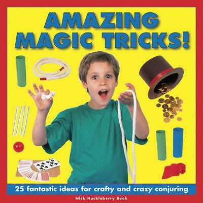 Amazing Magic Tricks! by Nick Huckleberry Beak (English) Hardcover Book Free Shi