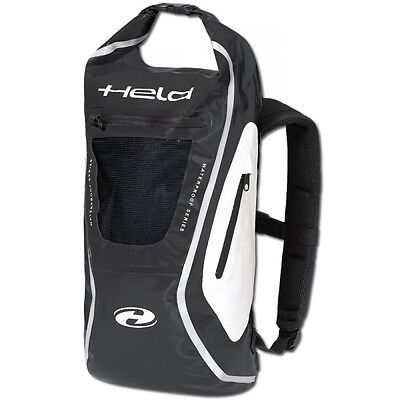 Held Zaino Black / White Moto Motorcycle Motorbike Touring Backpack | 20-30 L