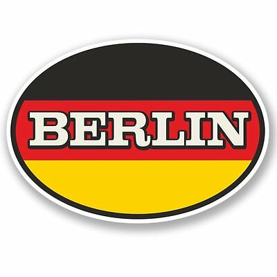 2 x Berlin Vinyl Sticker Laptop Travel Luggage #4342