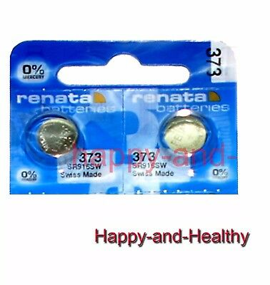 New Renata SR916SW 373 Silver Oxide button Battery x 2 pcs Swiss Made FREE Post