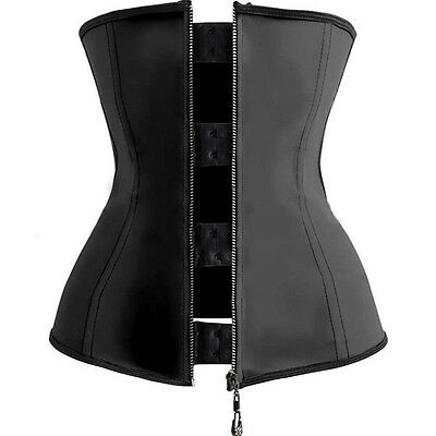 Latex Waist Trainer Thermo Compression Corset Cincher 9 Steel Bone Zipper Hooks