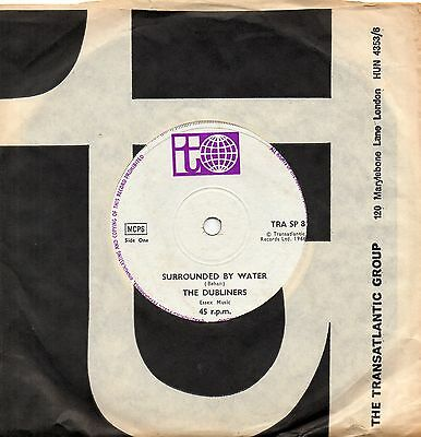 THE DUBLINERS surrounded by water 1966 UK TRANSATLANTIC 45