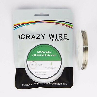 0.35mm (27 AWG) Comp Ni200 (Hardened 99.6% Nickel) Wire – 1 ohms/m