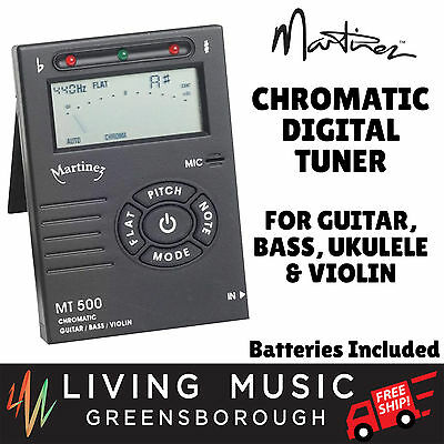 New Martinez Chromatic Digital Tuner for Guitar, Bass, Ukulele and Violin
