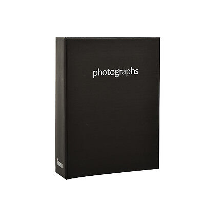 Arpan 6x4'' Black Small Slip In Case Photo Album for 100 Photos -  CL-SM100BK