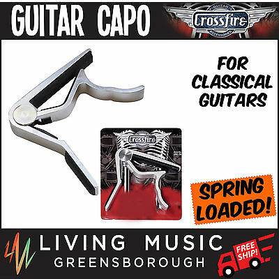 New Crossfire Trigger-Style Capo for Classical Guitars