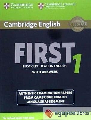 Cambridge English First 1. Student's book with answers. NUEVO. ENVÍO URGENTE