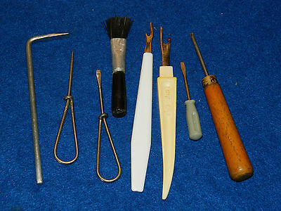 vintage LOT ustensiles de COUTURE coudre couturier SEWING singer TOURNEVIS tool