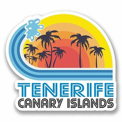 2 x Tenerife Spain Vinyl Sticker Car Travel Luggage #9869