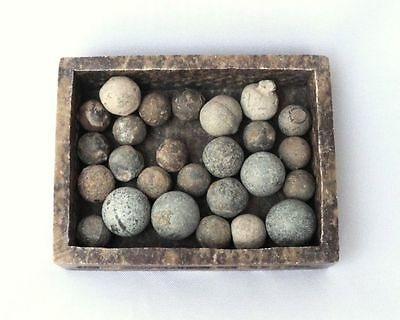 1700's Antique Military Lot 25 Bullets / Lead Balls. Loaded Through the Barrel