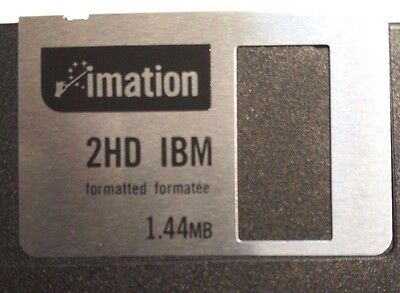 """Imation 2x Black HDD PC Formatted 3.5"""" Floppy Disks Diskette"""