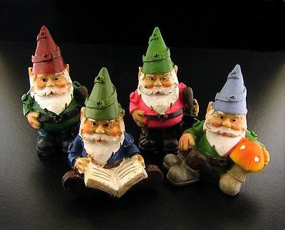 Miniature Fairy Garden Set of Four Gnomes - Buy 3 Save $5