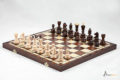 Brand New Hand Crafted KING 42 Wooden Chess Set 42cm x 42cm