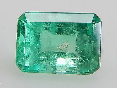 1.06CT AS IS APPLE GREEN NATURAL EMERALD FROM COLOMBIA 7.26X5.29X4.12mm/2472-EM