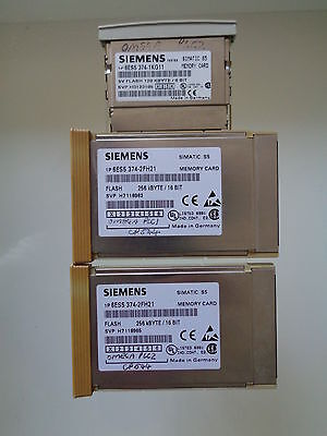 Siemens Simatic S5 MEMORY CARDS LOT 2x 6ES5 374-2FH21AND 1x 6ES5 374-1KG11