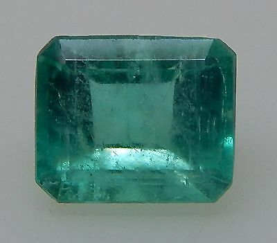 1.28Ct ULTRA CLEAN NATURAL COLOMBIAN EMERALD 7.13X5.95X4.34mm/NI-EM