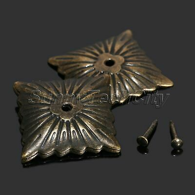Vintage 100Pcs Antique Bronze Square Upholstery Nails Tack Studs for Furniture
