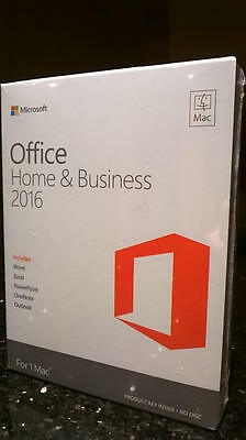 Microsoft Office Home & and Business 2016 for Mac 1 User HJ9K2LL/A W6F-0050