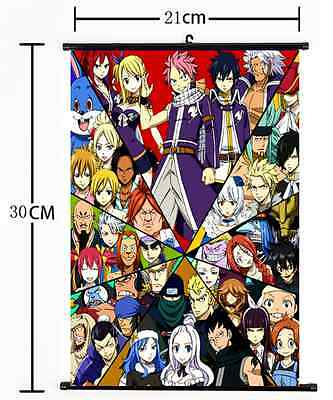 Japan Anime Fairy Tail home decor  Wall Scroll Poster 584