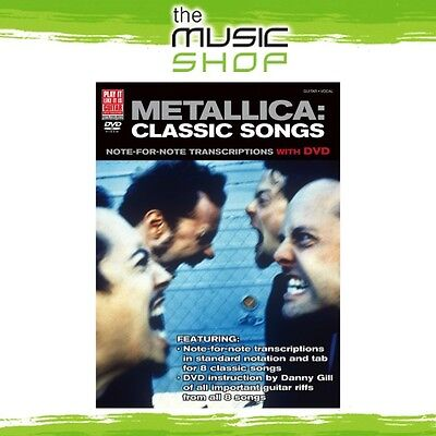 New 'Metallica: Classics Songs' Play It Like It Is Music Book for Guitar
