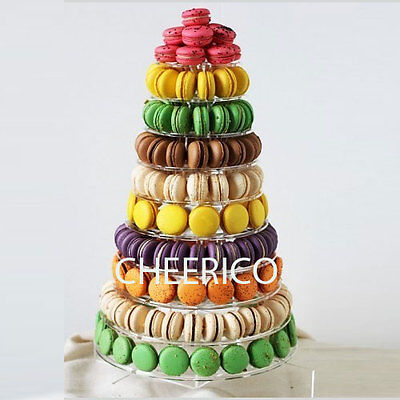 10 Tier Macaron Stand for 230 macarons by Cheerico Bakery Supplies.