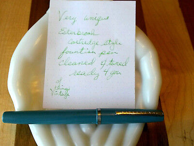 OVERSIZE Esterbrook cartridge style fountain pen CA 101 no.2668 nib cleaned