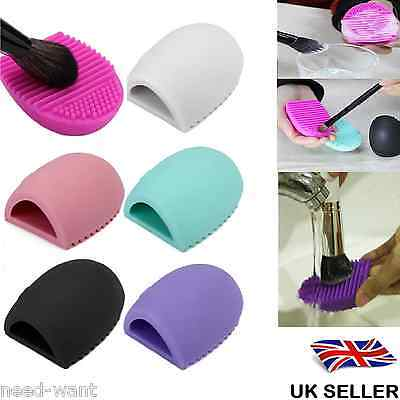 Makeup Brush Cleaner Glove Egg Scrubber Cosmetic Cleaning Silicone Foundation