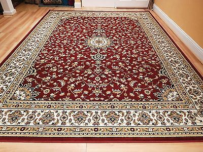 red traditional oriental medallion 8x10 area rug persian carpet 2x3 2x3 Rugs