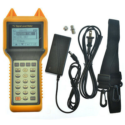 RY-S200 TV Signal Level Meter CATV Cable Testing 46-870MHZ MER BER
