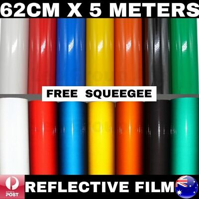 62Cm X 5M Premium Quality Colour Reflective Vinyl Wrap Film Sticker Signage Car
