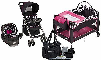 Evenflo Baby Stroller Car Seat Travel System Diaper Bag Infant Playard Set New