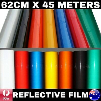 62Cm X 45M Premium Quality Colour Reflective Vinyl Wrap Film Sticker Signage Car
