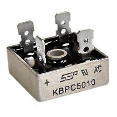 1PCS KBPC5010 50A 1000V Metal Case Single Phases Diode Bridge Rectifier