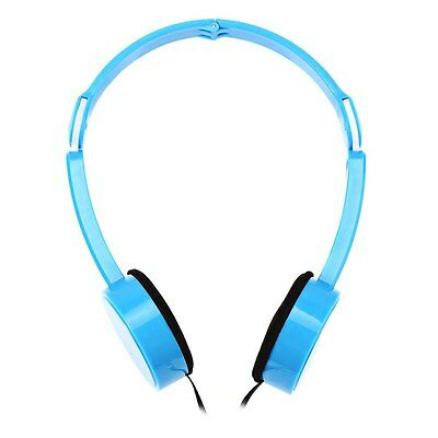 3 Colors Retractable Foldable Over-ear Headphone with Mic Stereo Bass for Kids