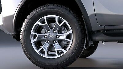 "Genuine Toyota HiLux and Fortuner 18"" Alloy Wheels - Machined Grey (Set of 4)"
