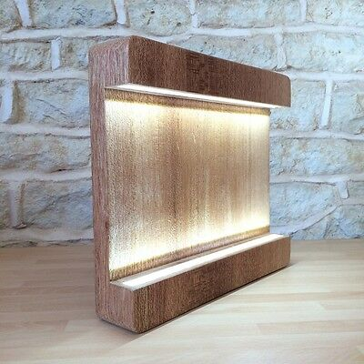 Solid Chunky Wood Design Table Light Desk Lamp With Leds Solid Wood Handmade