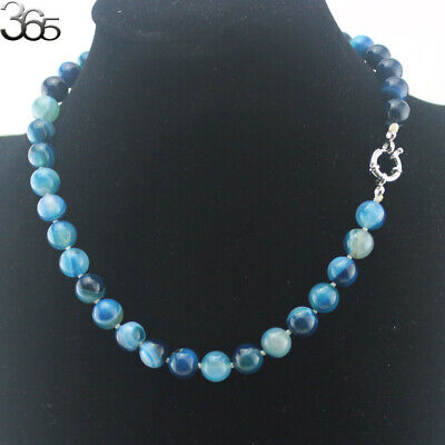 """Wholesale 17.5"""" Round Natural Gemstone Beads 10mm Knot Strand Jewelry Necklace"""