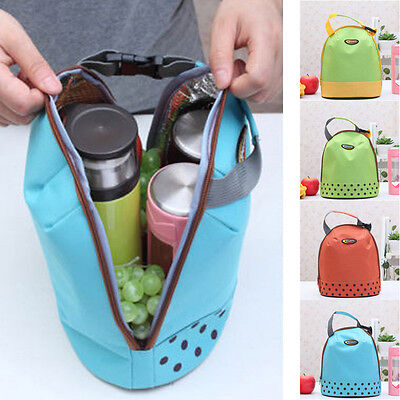 Portable Tote Insulated Canvas Lunch Bag Thermal Food Picnic Bento Lunch Bags